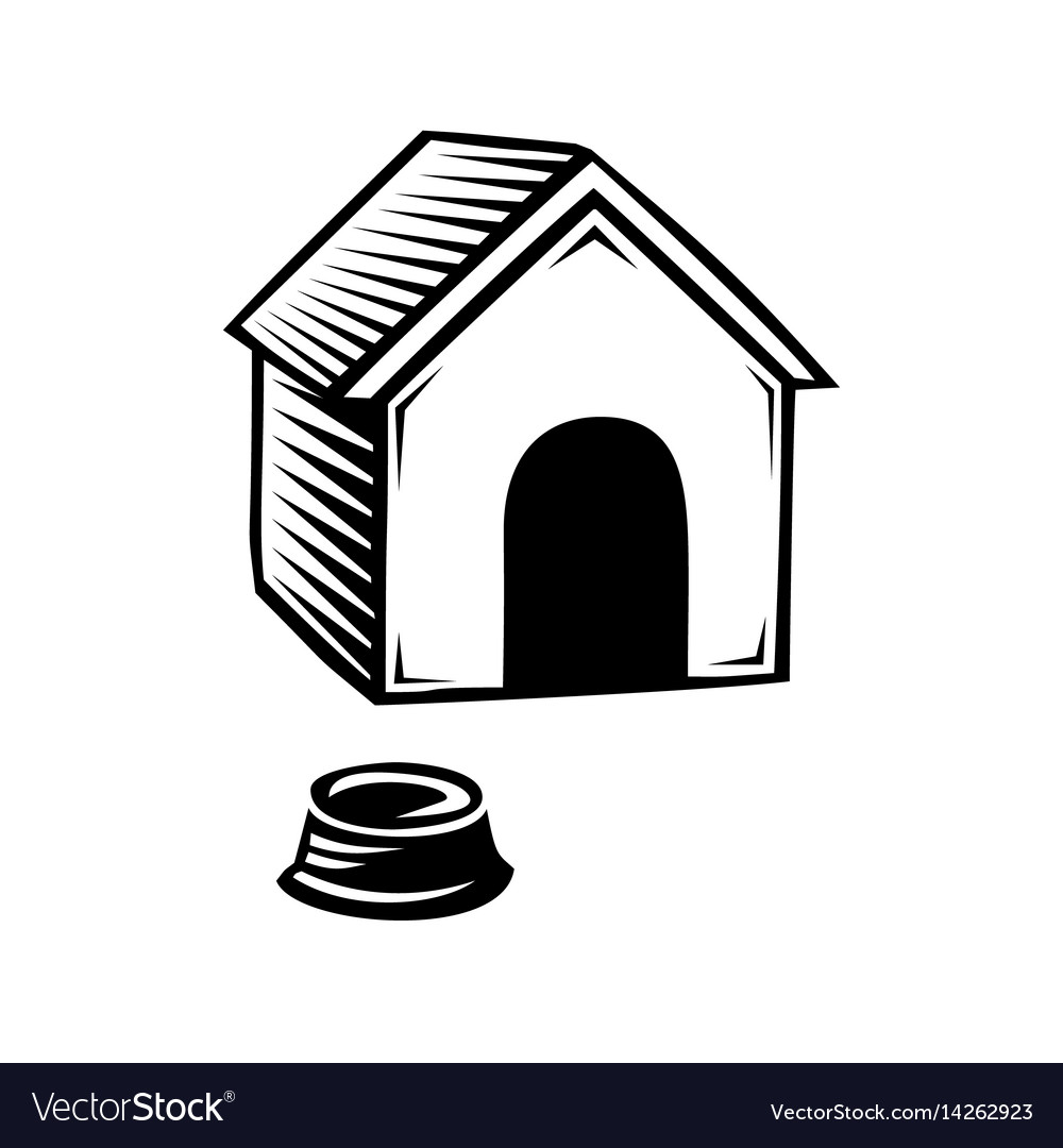 Doghouse icon isolated on white background
