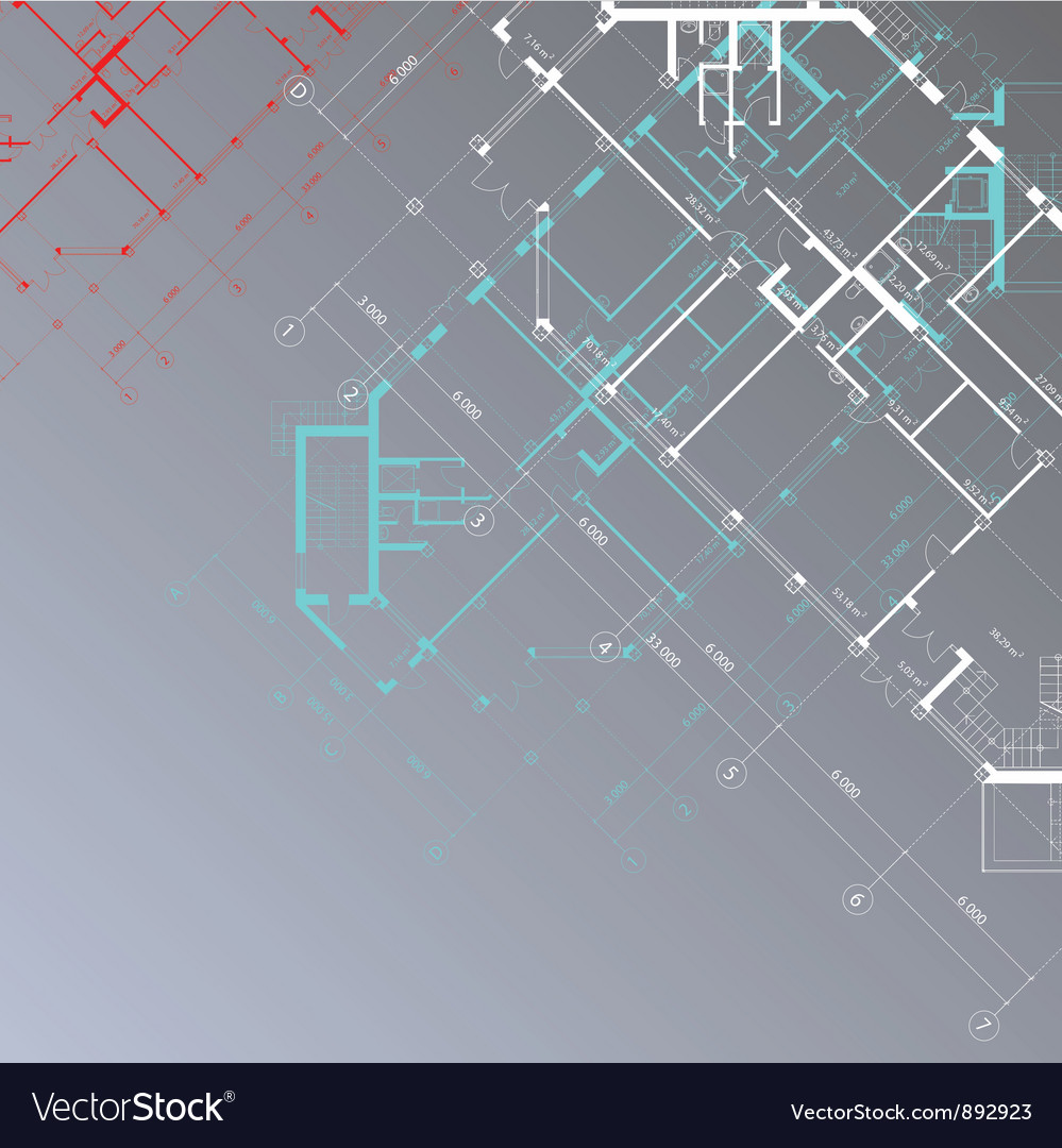 Gray architectural background vector image