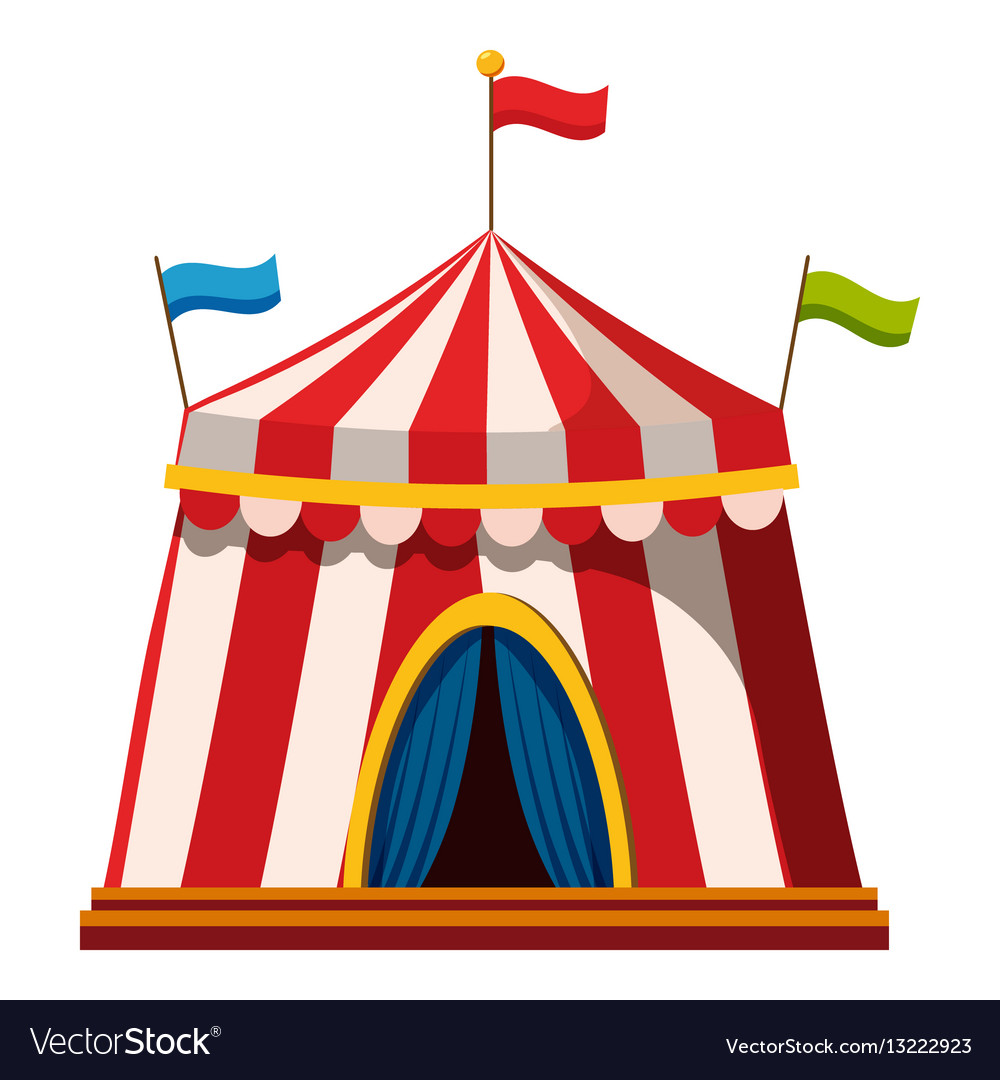 Shapito circus icon cartoon style