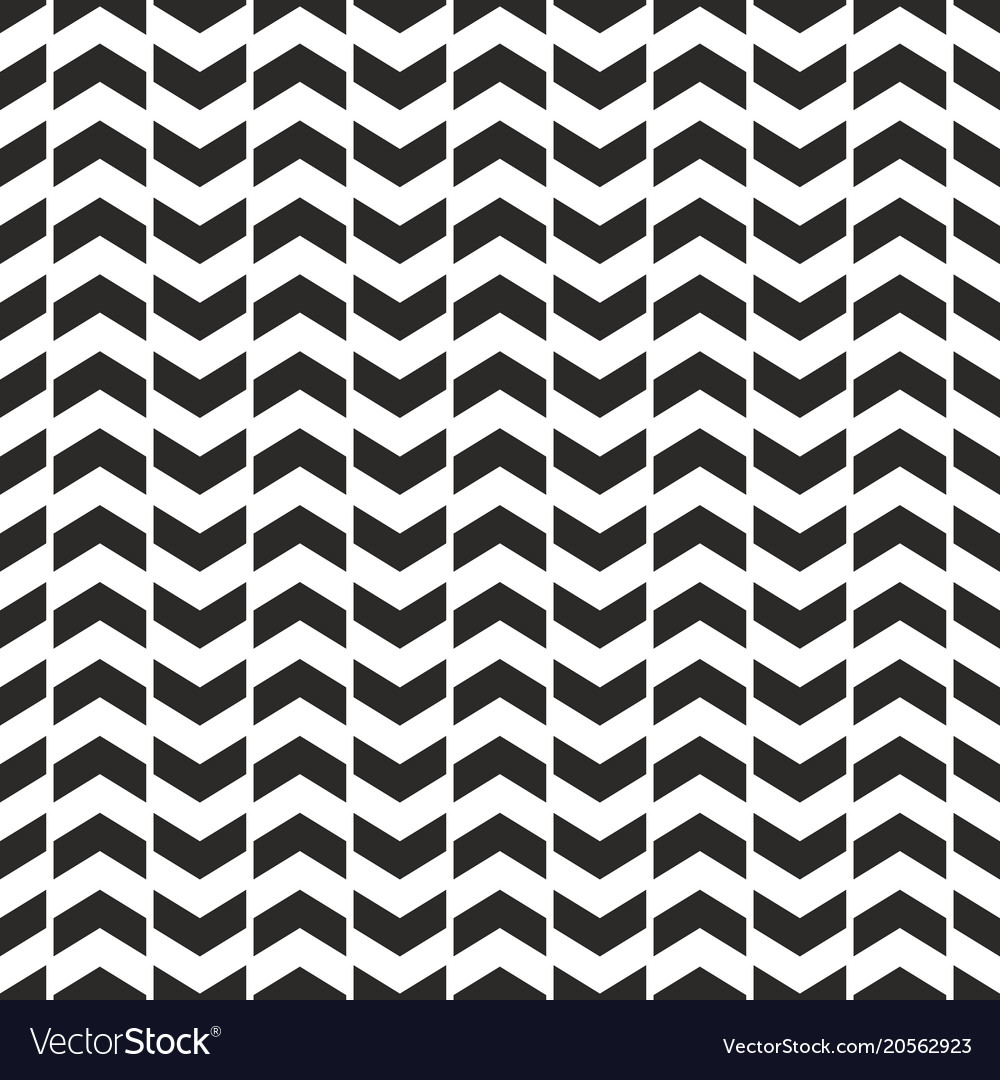 Tile pattern with black arrows on white background