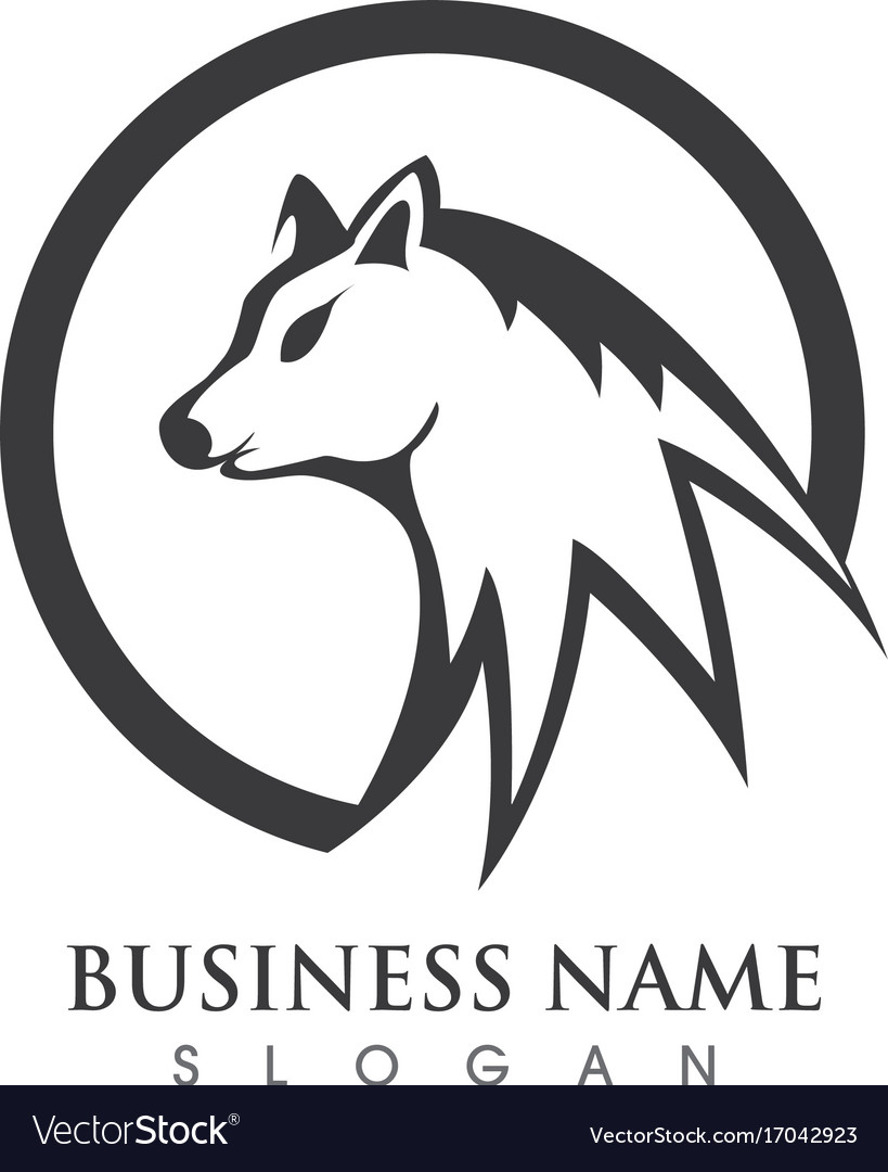 wolf logo template design royalty free vector image