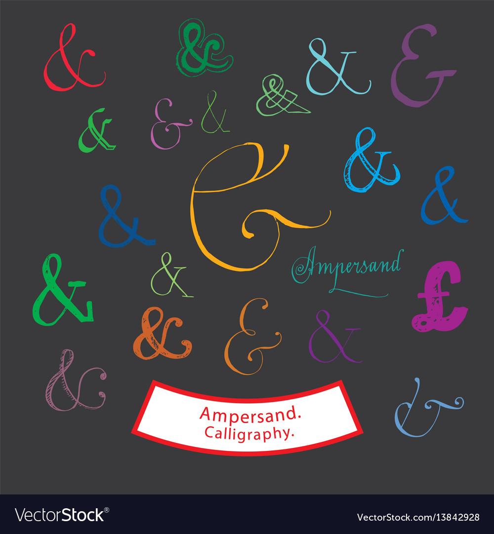 Ampersand calligraphy