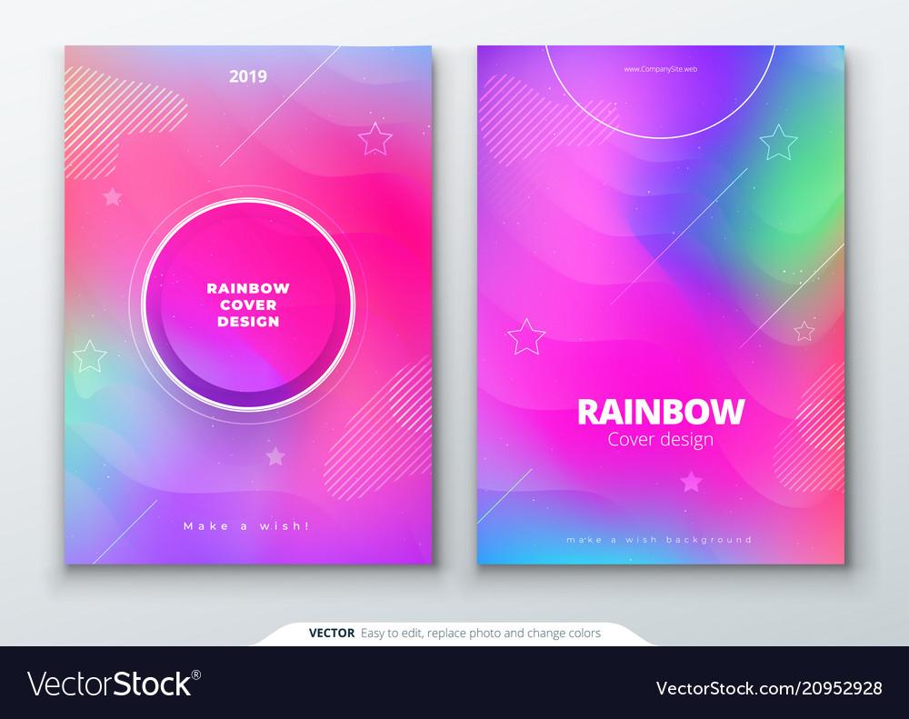 Liquid color covers set fluid shapes composition