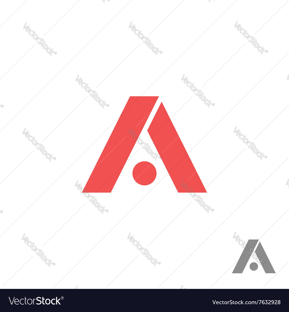 Logo A letter red geometric shape creative app vector image