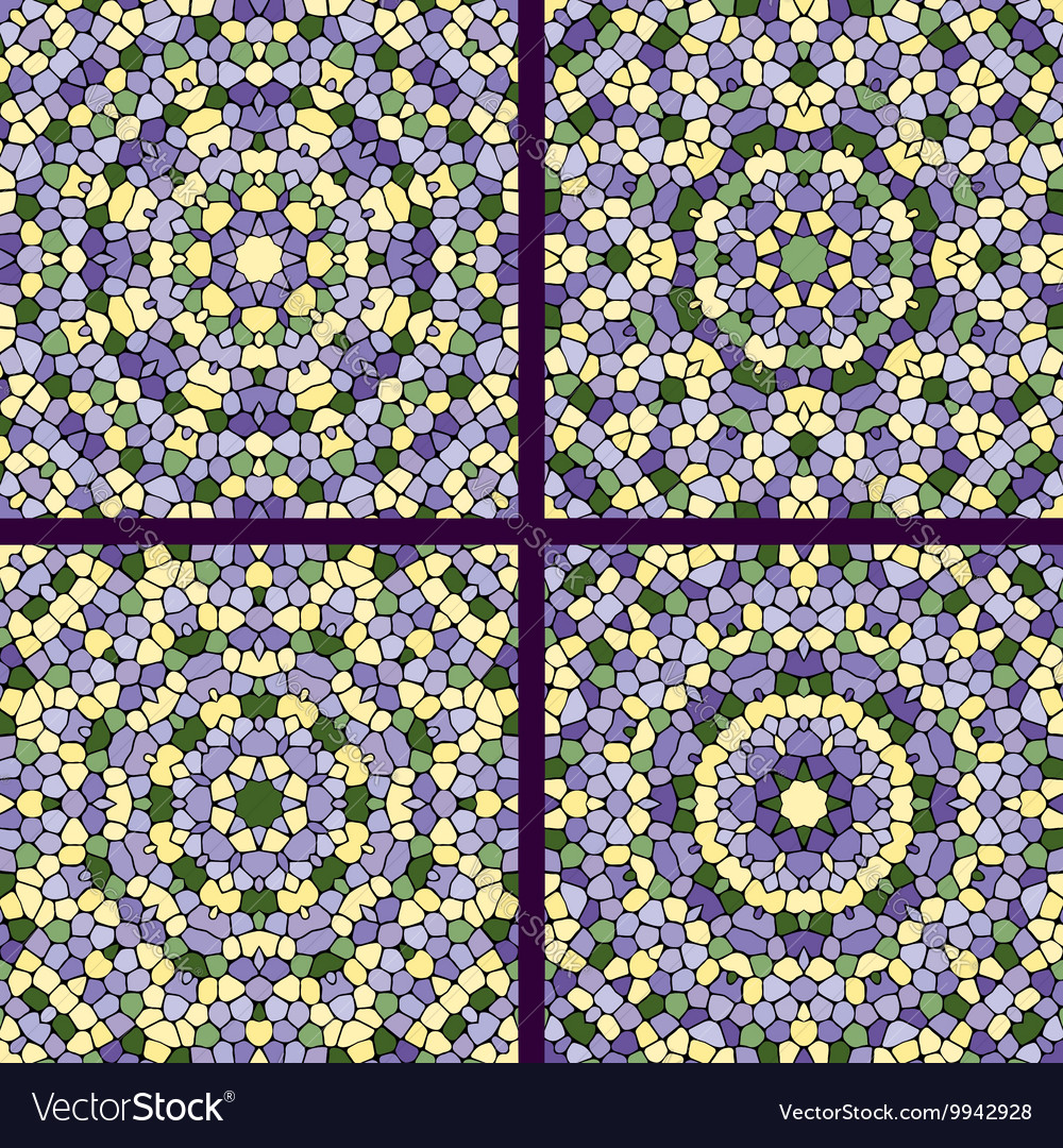 Set of mosaic background