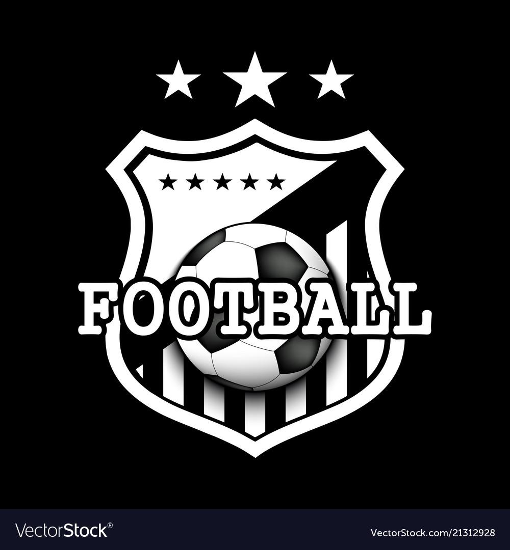 soccer logo template design royalty free vector image