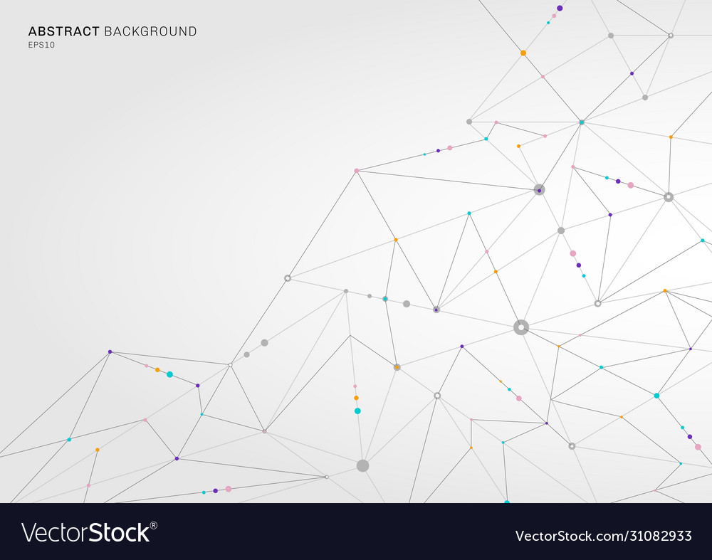Abstract digital technology concept connecting