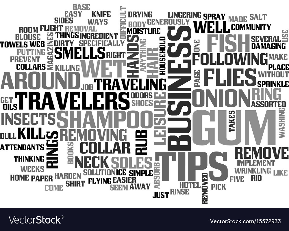 assorted tips for business travelers text word vector image