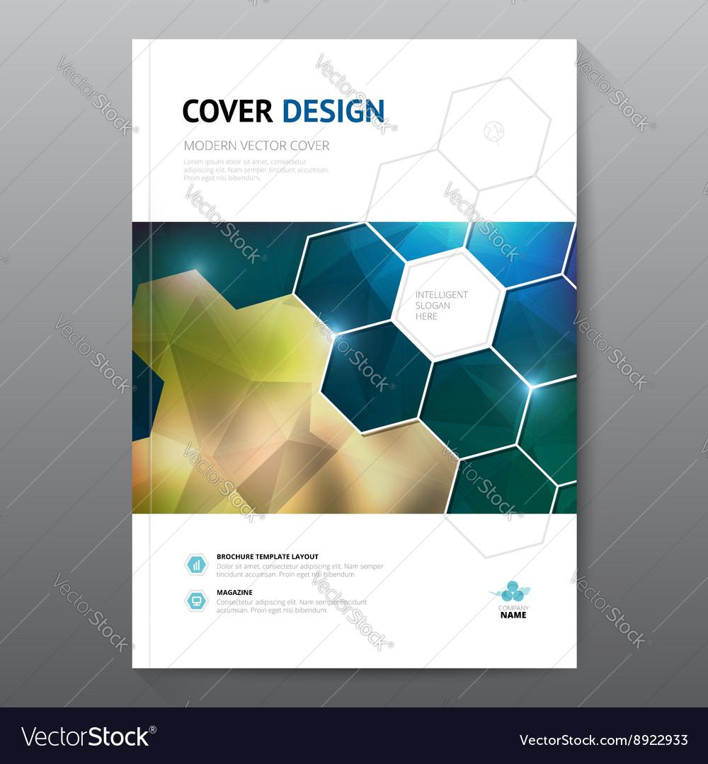 Blue annual report Leaflet Brochure Flyer template