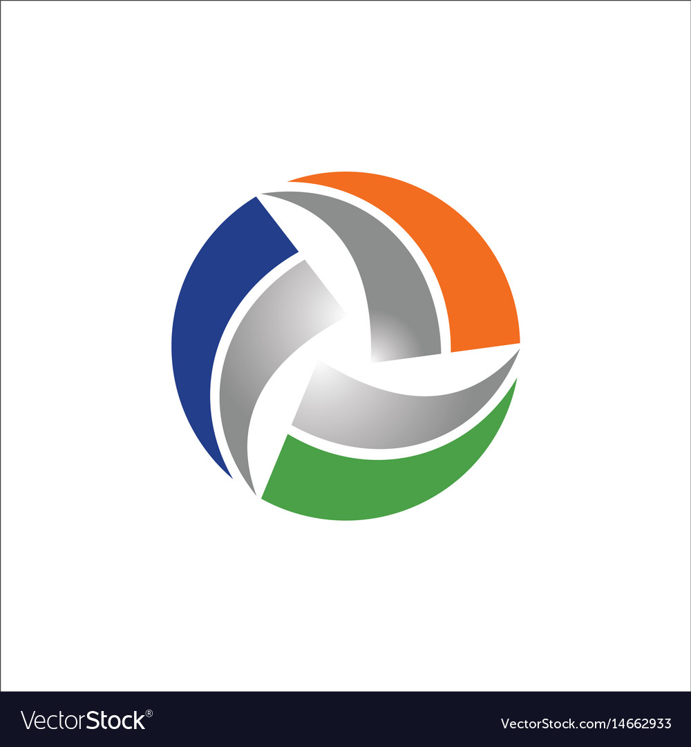 Circle round shape colored logo