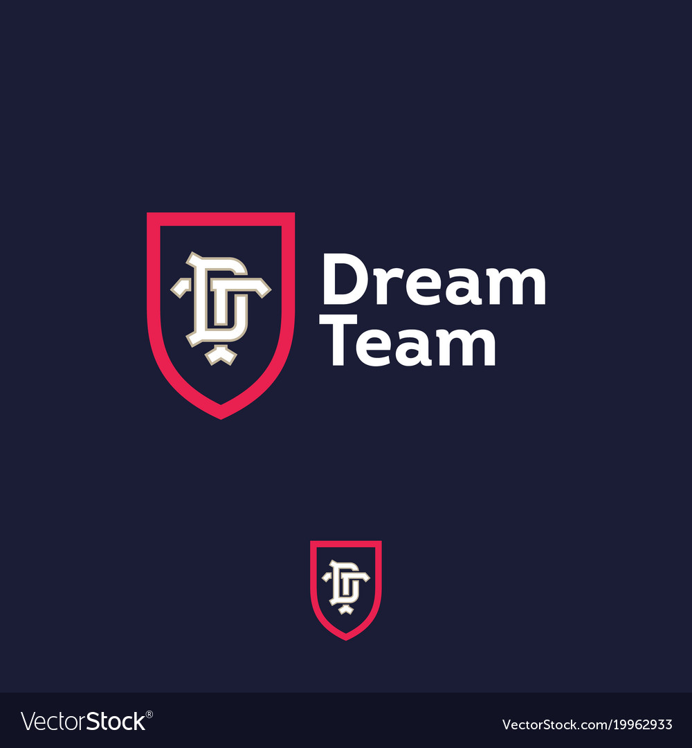 dream team logo business team emblem d t vector image rh vectorstock com dream team logistics dream team logo design