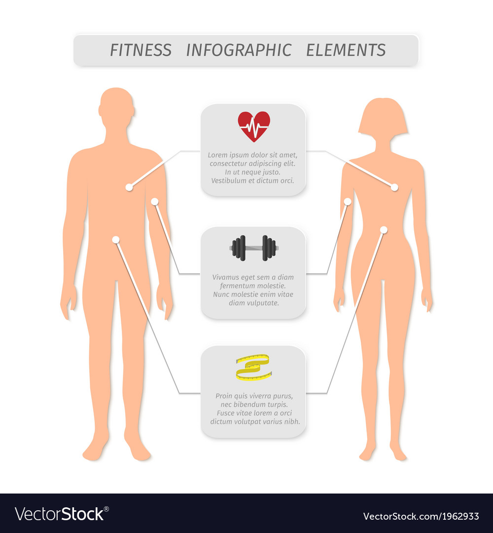 Infographic elements for fitness sports
