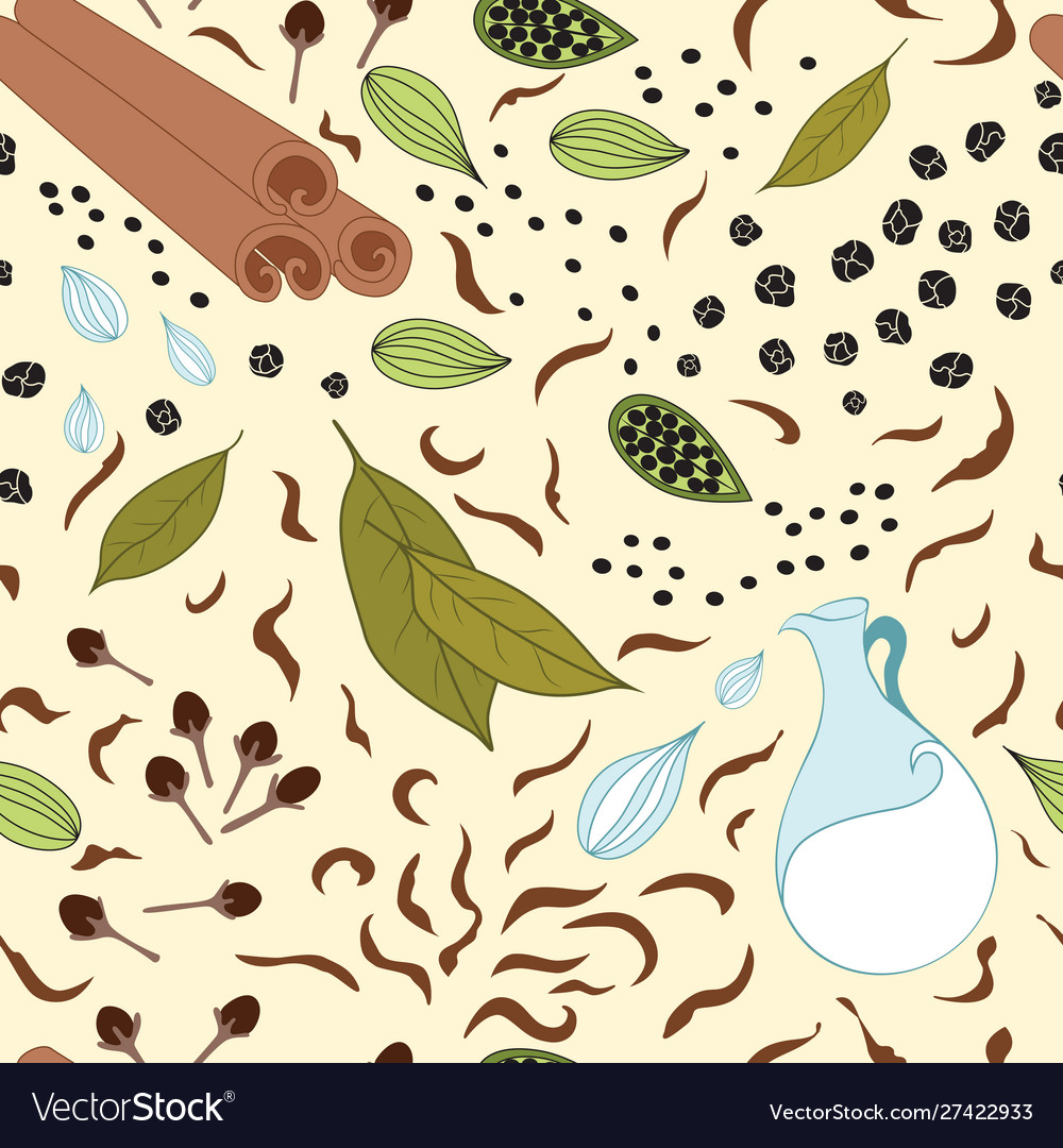 Seamless pattern with different kind of