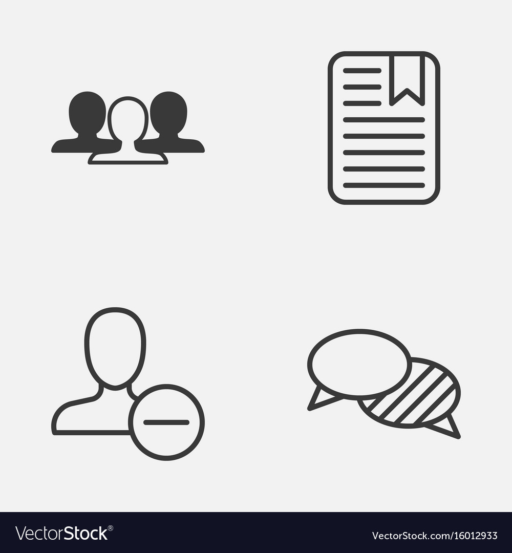 Social icons set collection of speaking note