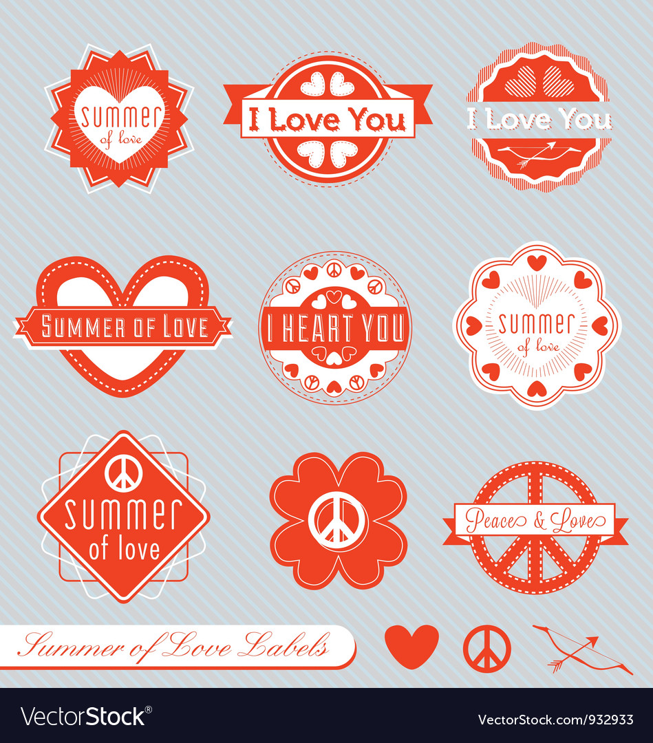 Summer of Love Labels