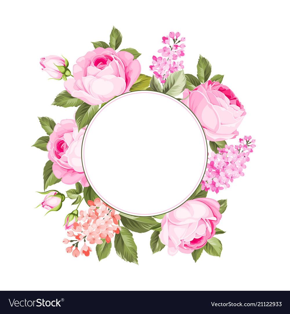 The Flower Garland Royalty Free Vector Image Vectorstock