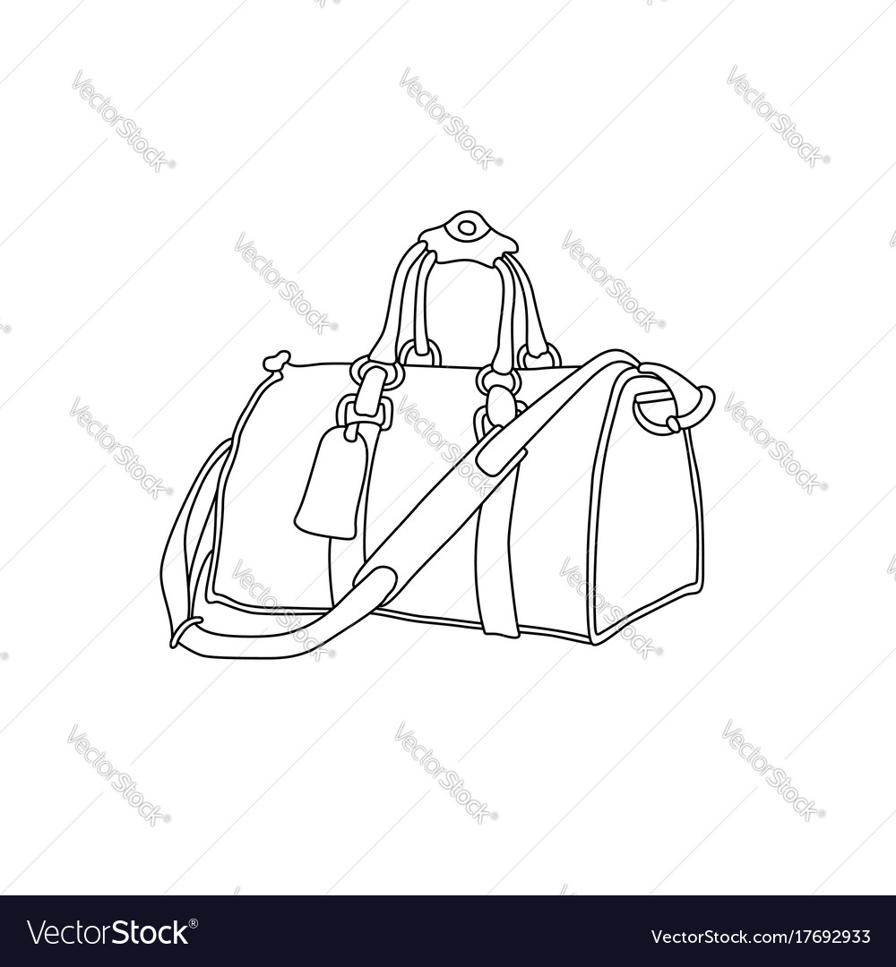 Travel Bag Hand Drawn Suitcase Royalty Free Vector Image