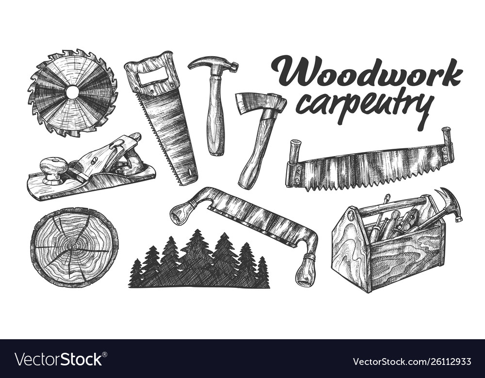 Woodwork carpentry collection equipment set