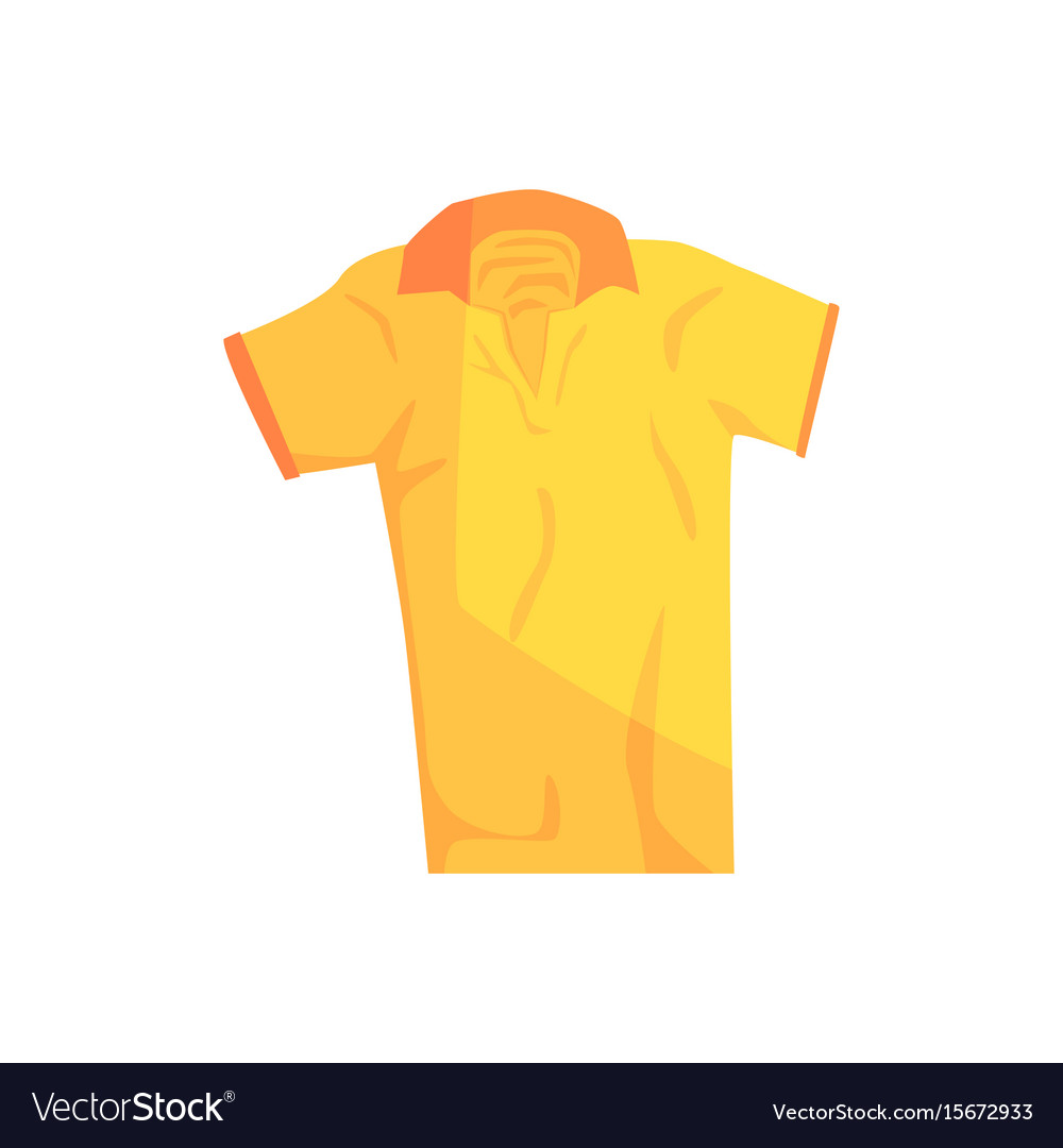 Yellow Sport Polo Shirt Royalty Free Vector Image