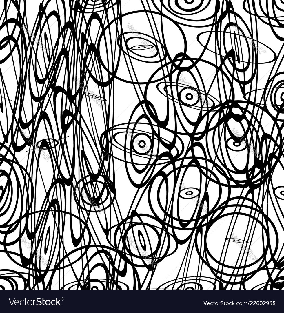 abstract image with squiggly squiggle lines vector image