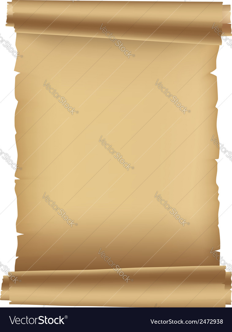 Ancient paper scroll vector image
