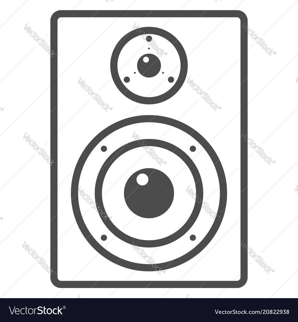 Audio monitor line icon music and instrument