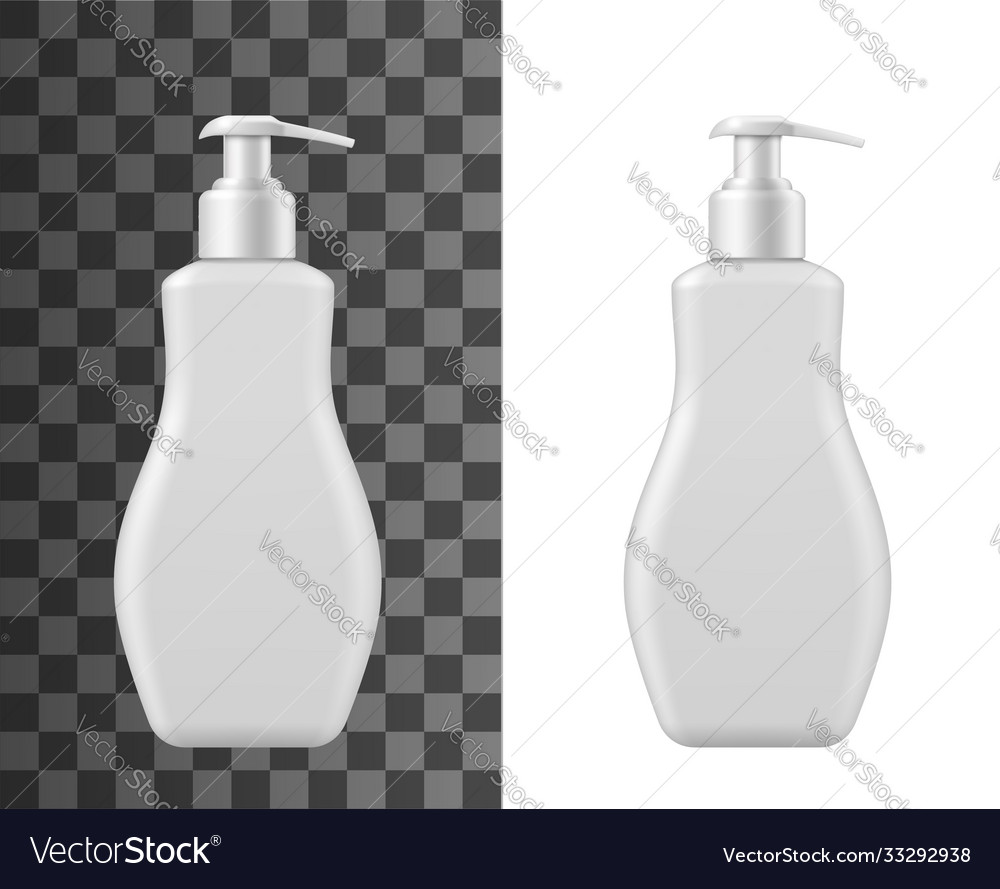 Bottle for liquid soap isolated mockup