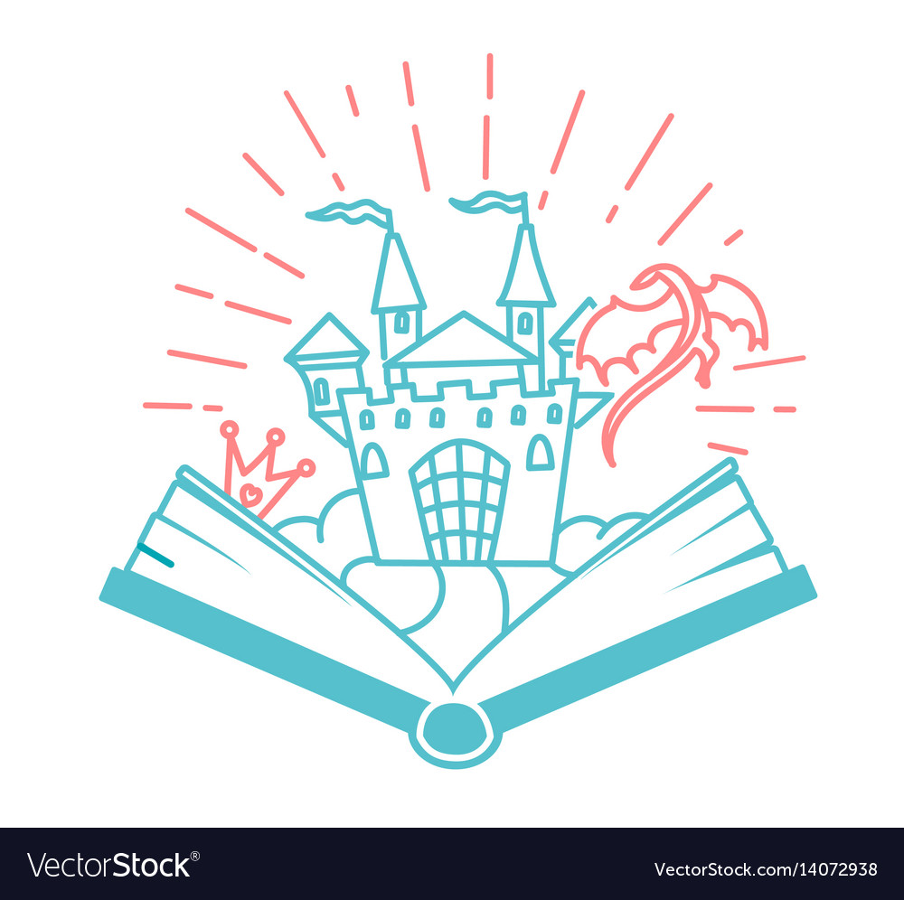 Concept of reading in the form of an open book vector image