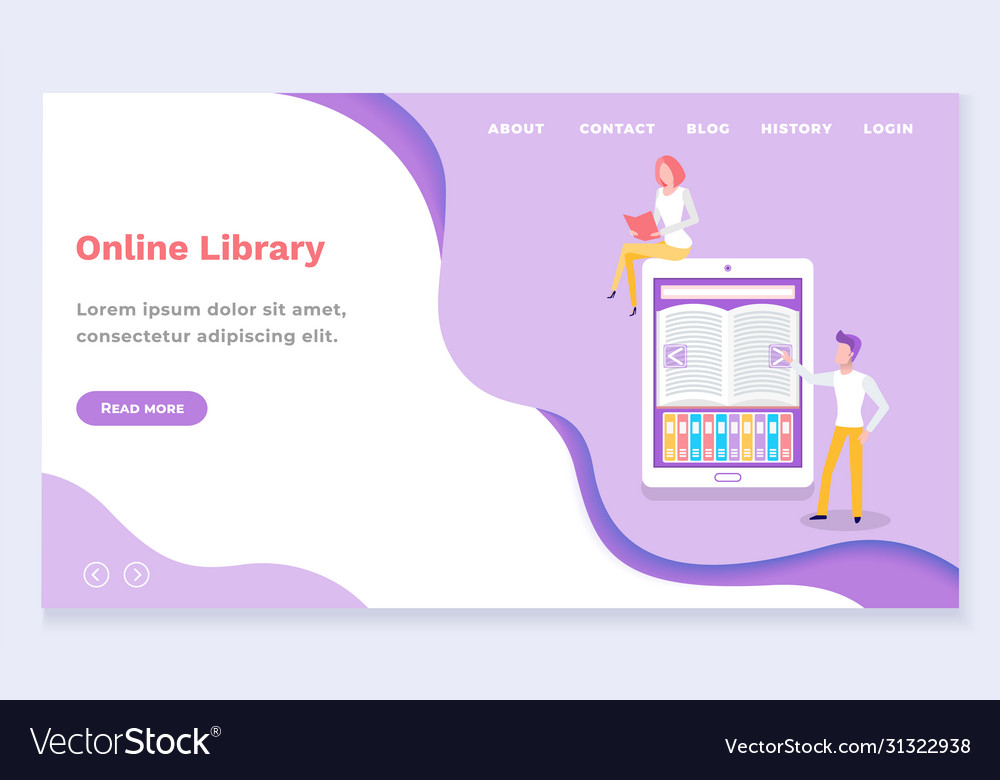 People using online library for learning