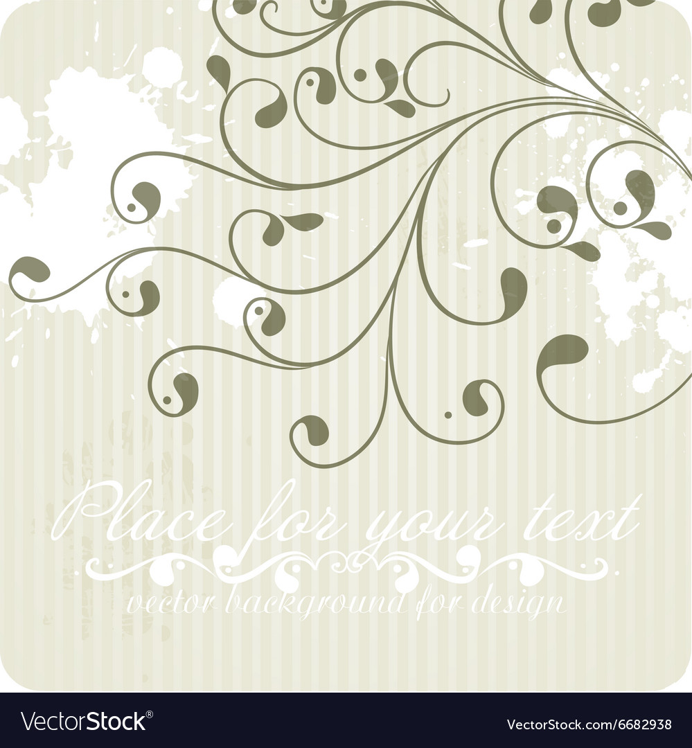 Pretty Floral Vintage Wallpaper Royalty Free Vector Image