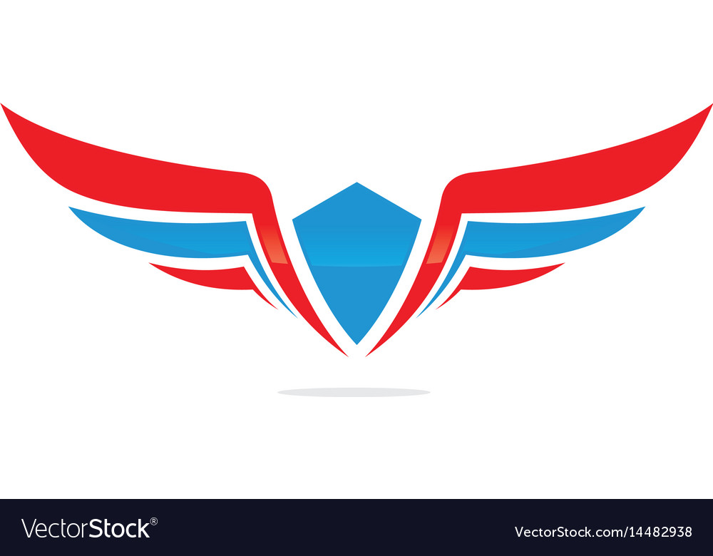 Winged logo company and icon wing flying