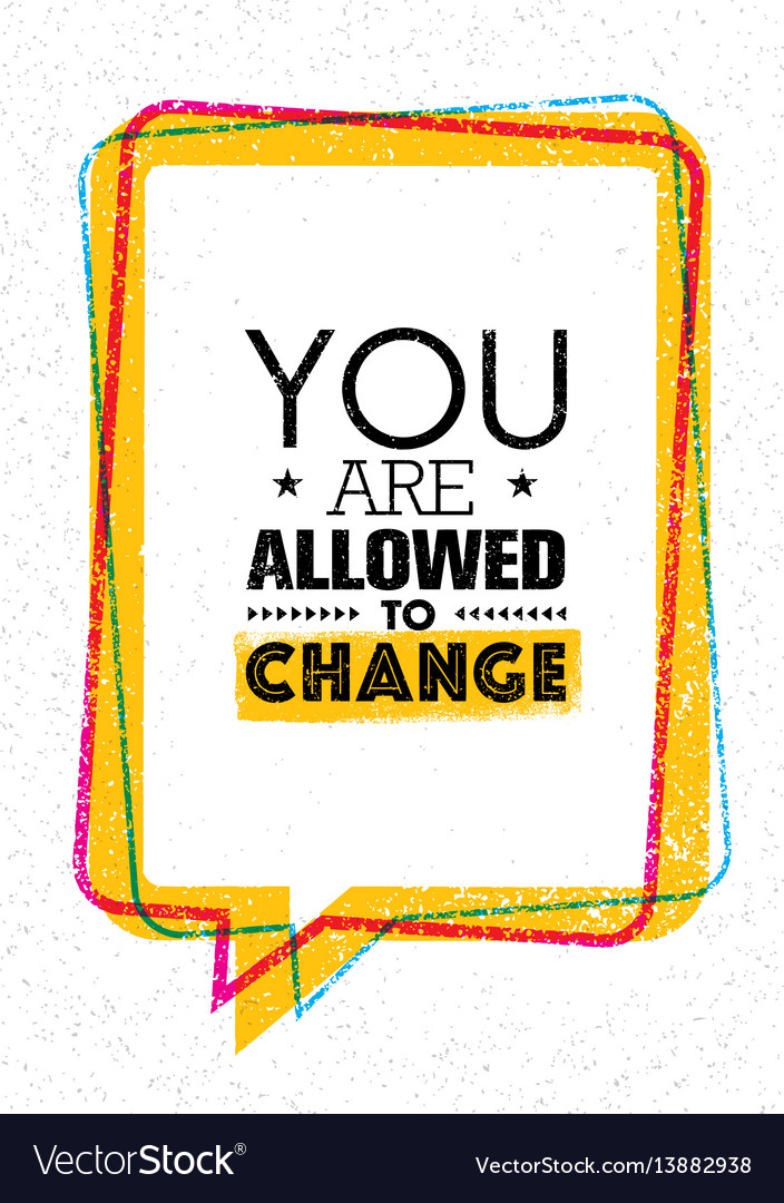 You are allowed to change inspiration creative