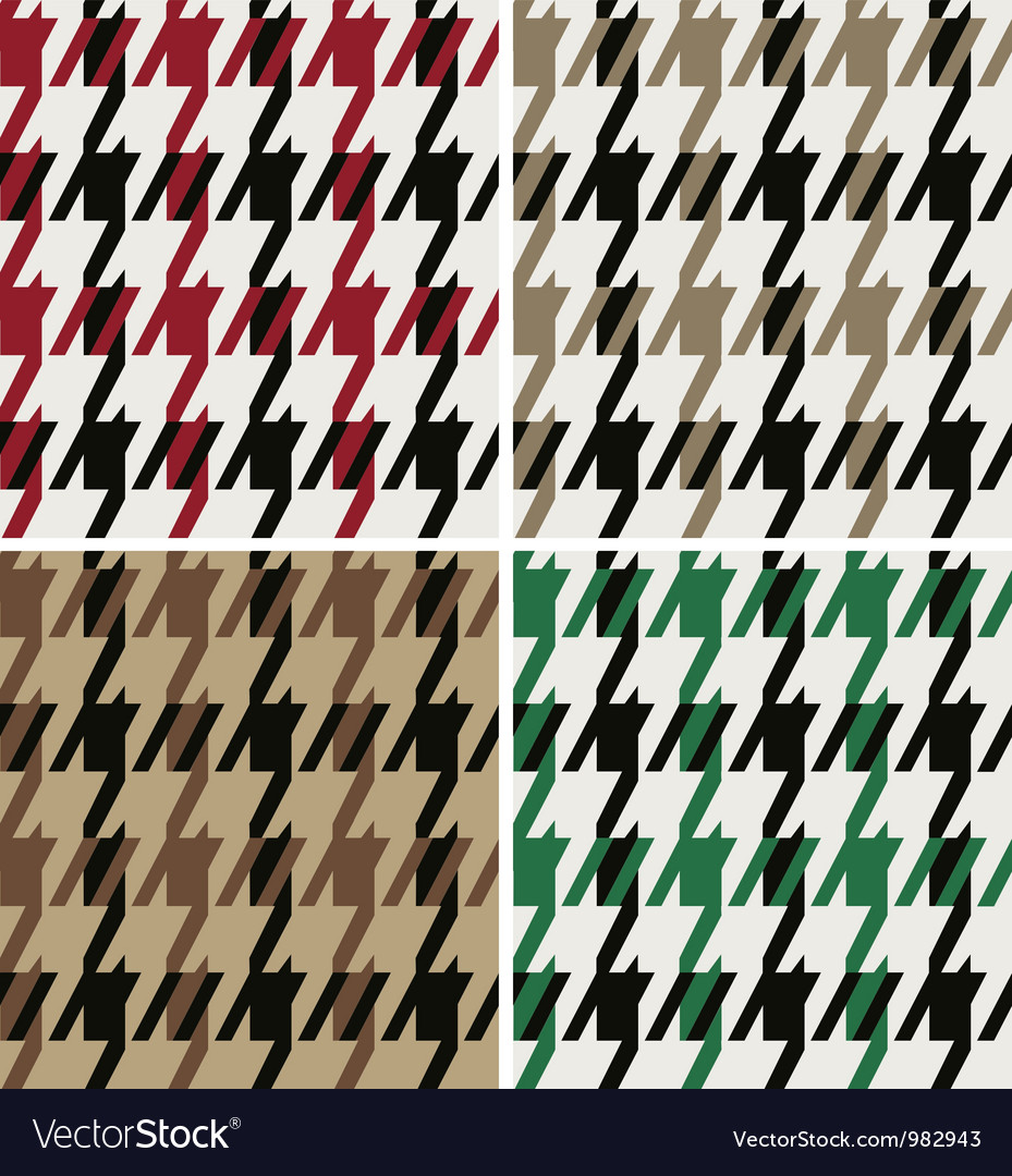Abstract wool houndstooth fabric