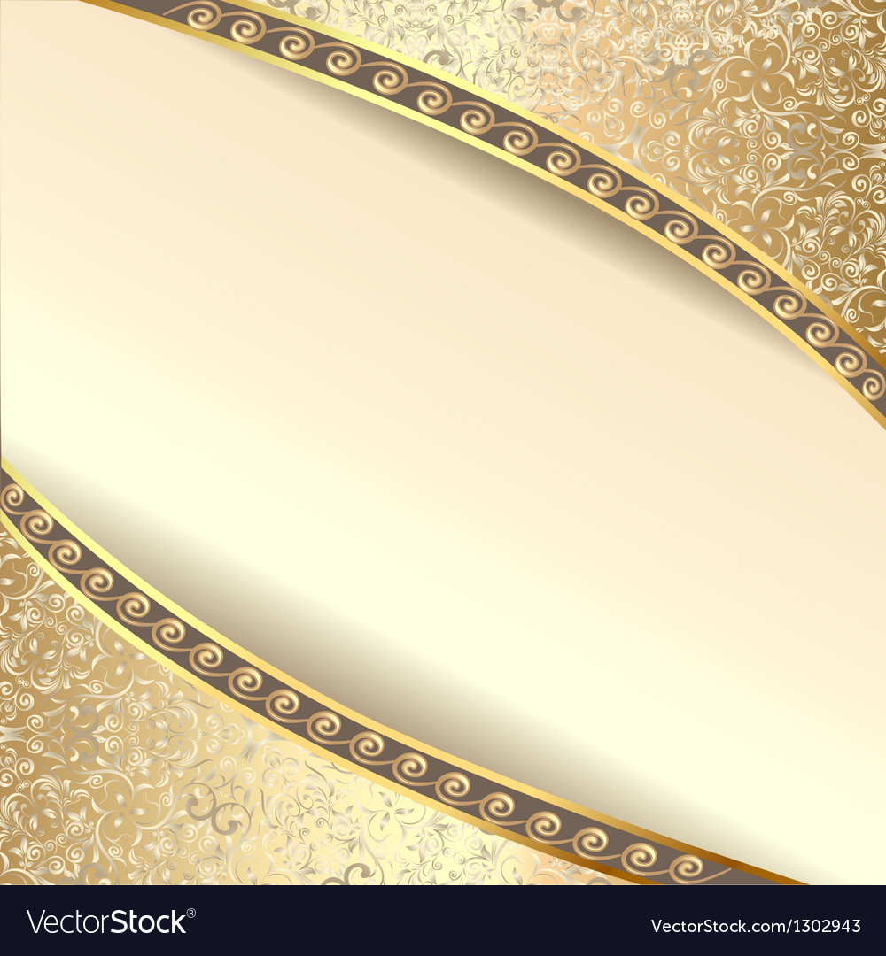 Background frame with flowers of silk with gold gl