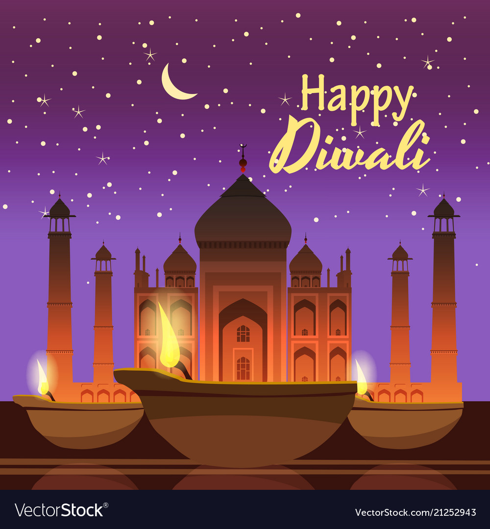 Beautiful greeting card for holiday diwali with
