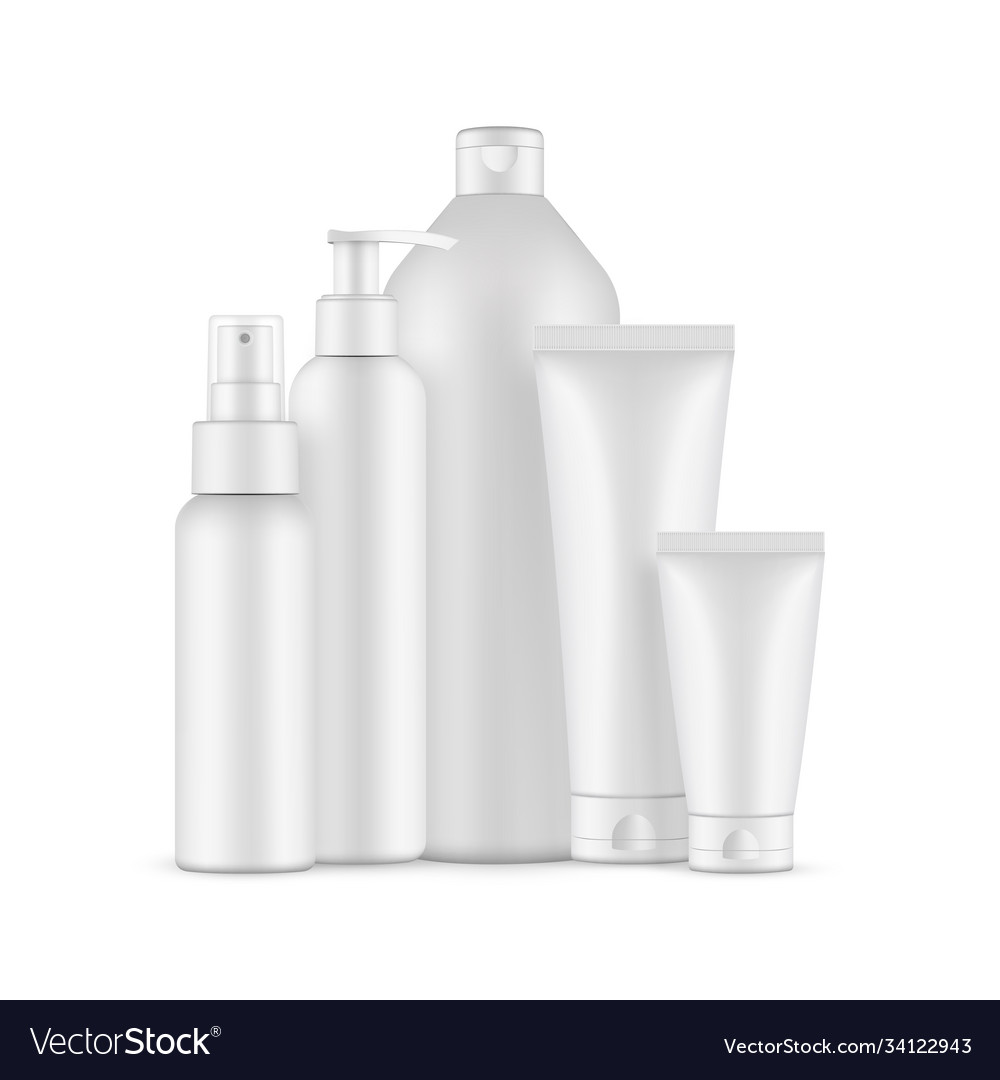 Blank cosmetic packaging mock up