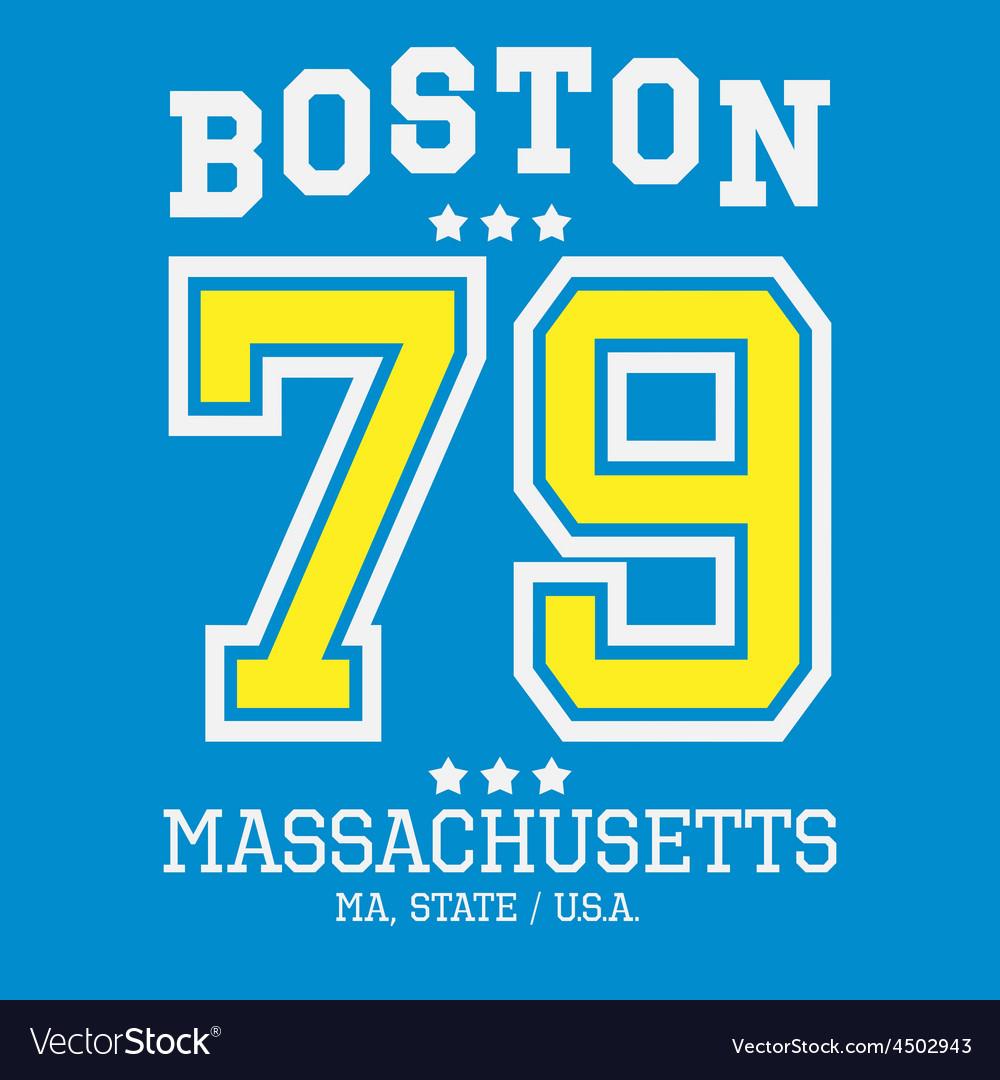 Boston Sport Team T-shirt Typography