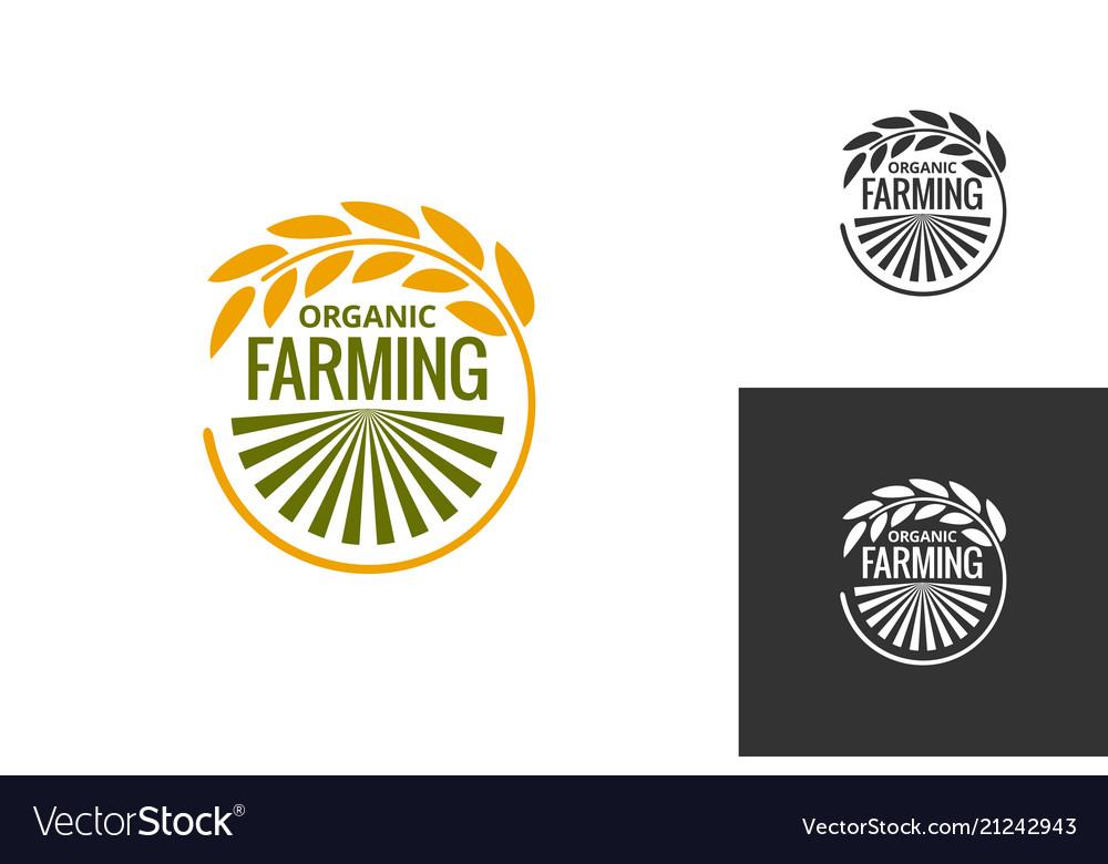 Farm product logo fresh farming food produce icon