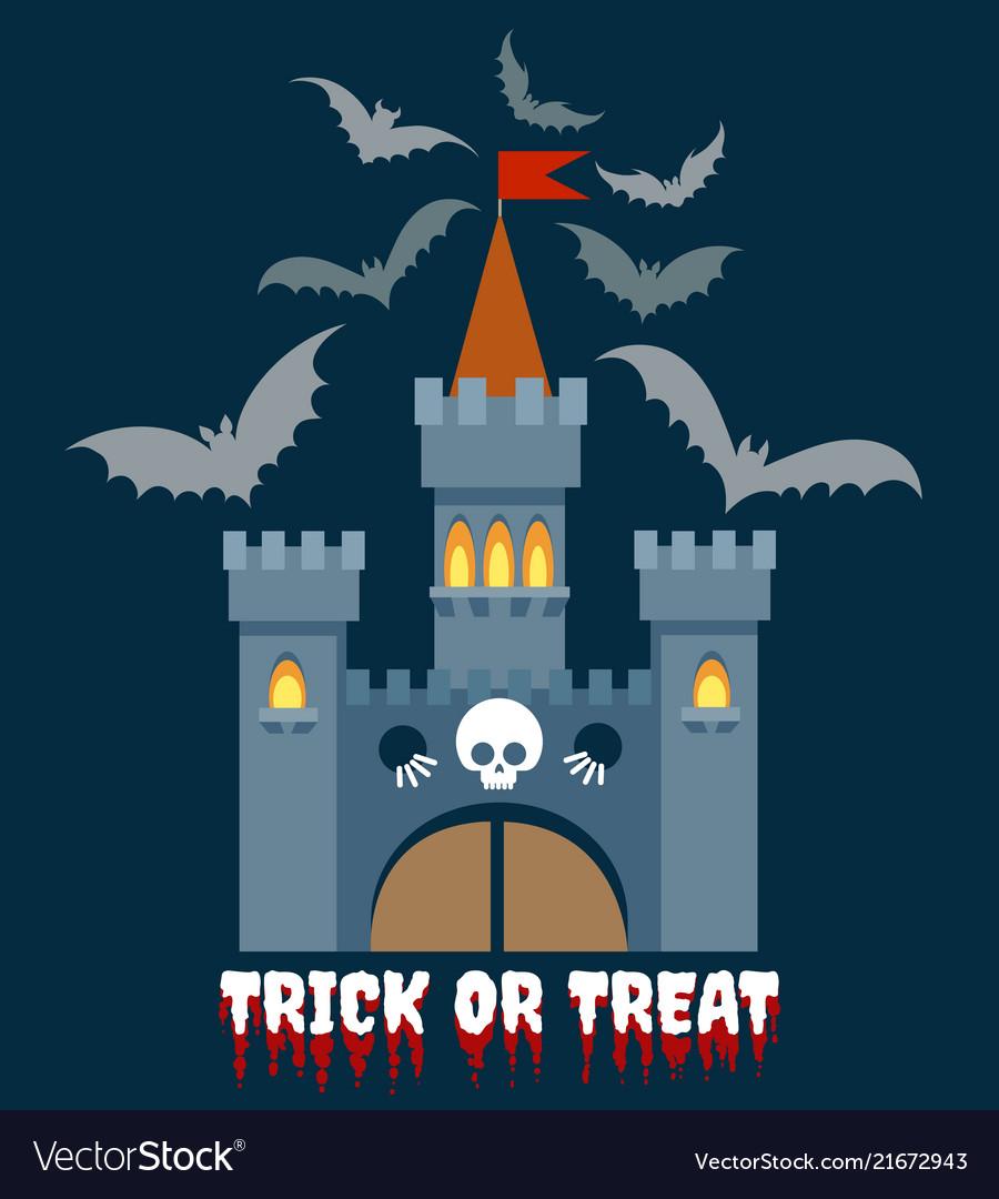 Halloween castle emblem
