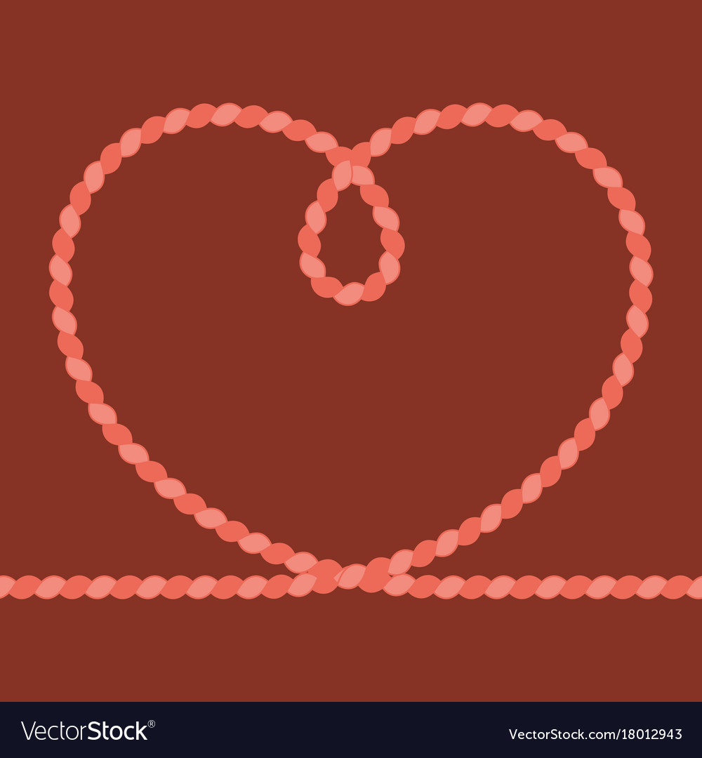 Heart rope frame