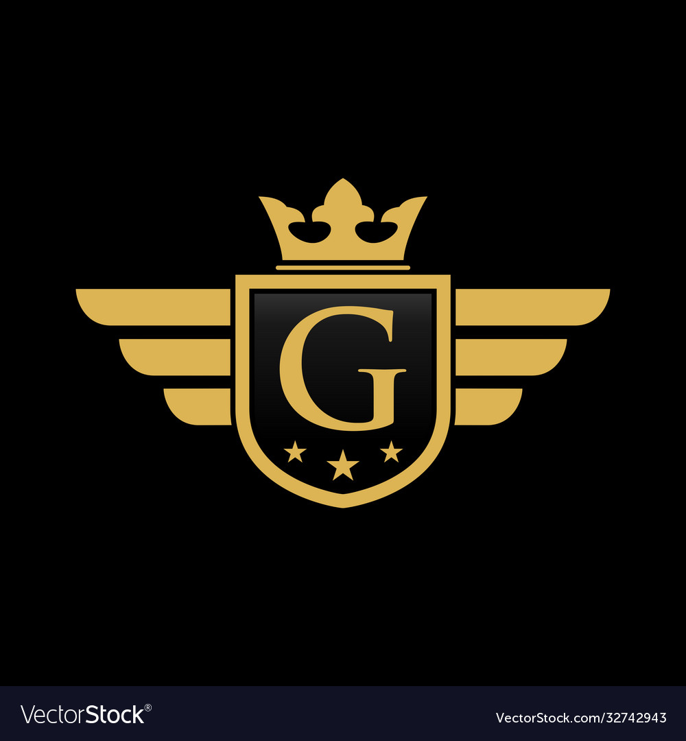 Letter g shield wing