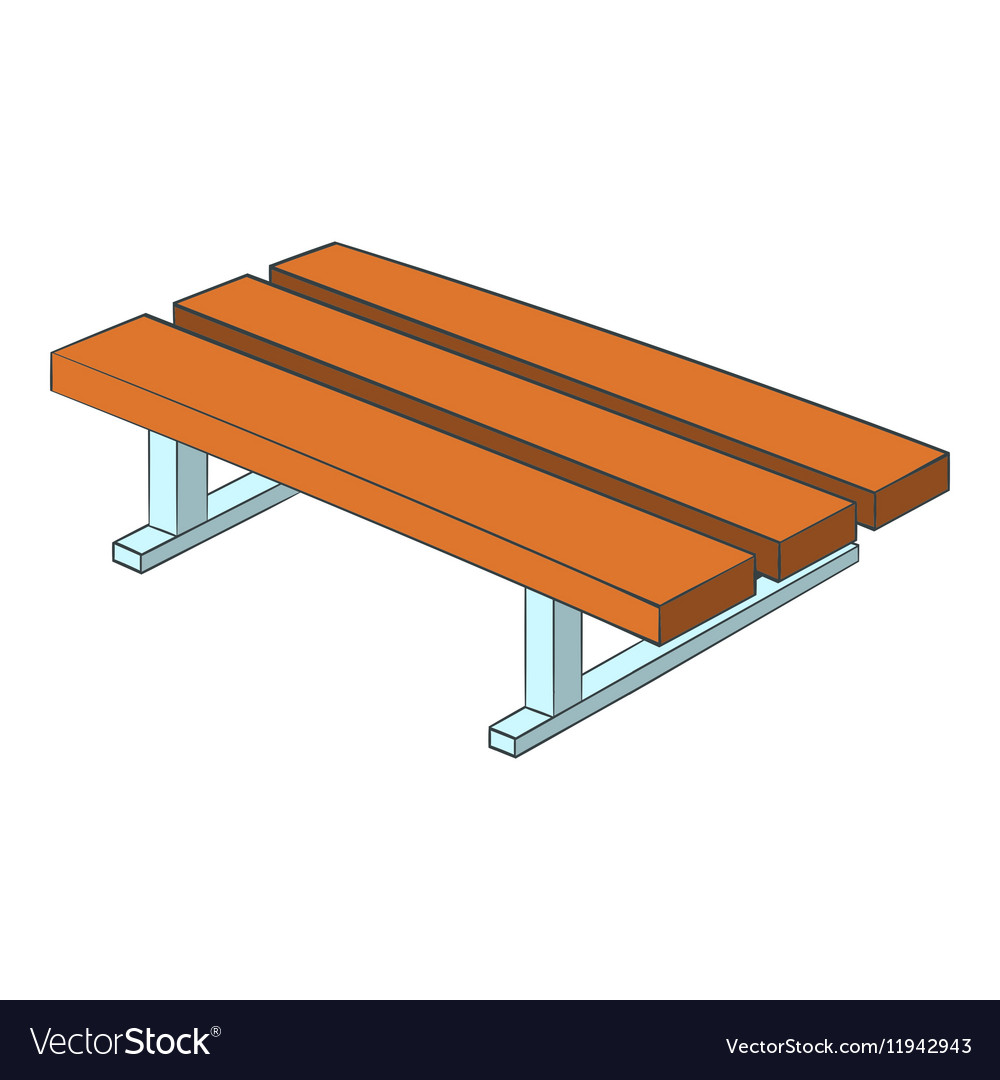 Fabulous Park Bench Icon Cartoon Style Alphanode Cool Chair Designs And Ideas Alphanodeonline