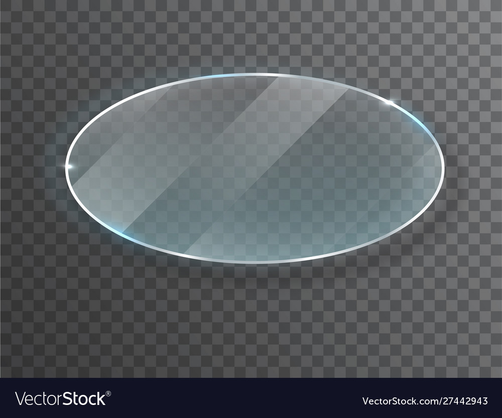 Transparent round circle glass plate mock up