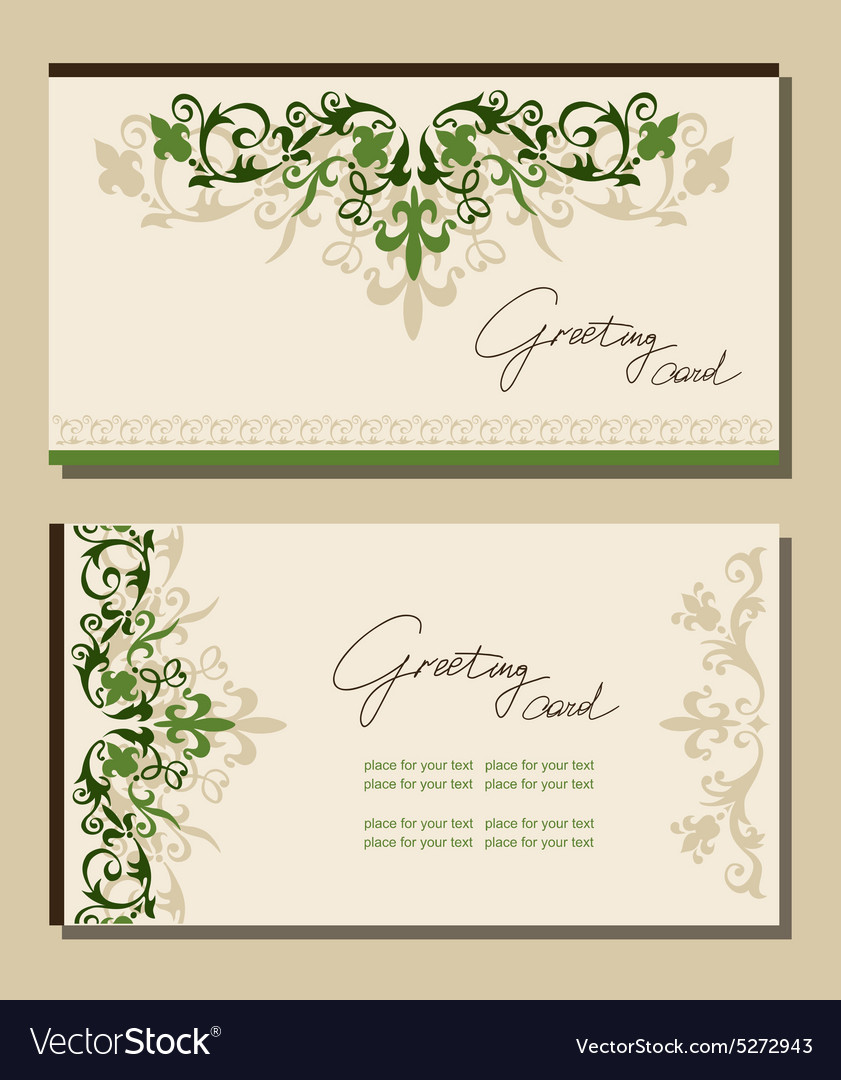 Vintage greeting cards floral motifs royalty free vector vintage greeting cards floral motifs vector image m4hsunfo