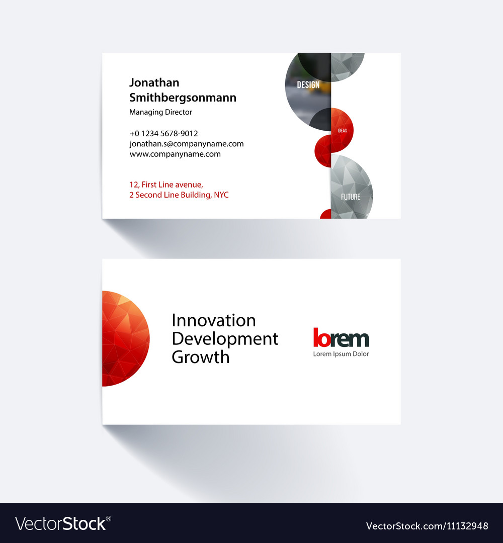 Business card template with half spheres vector image colourmoves
