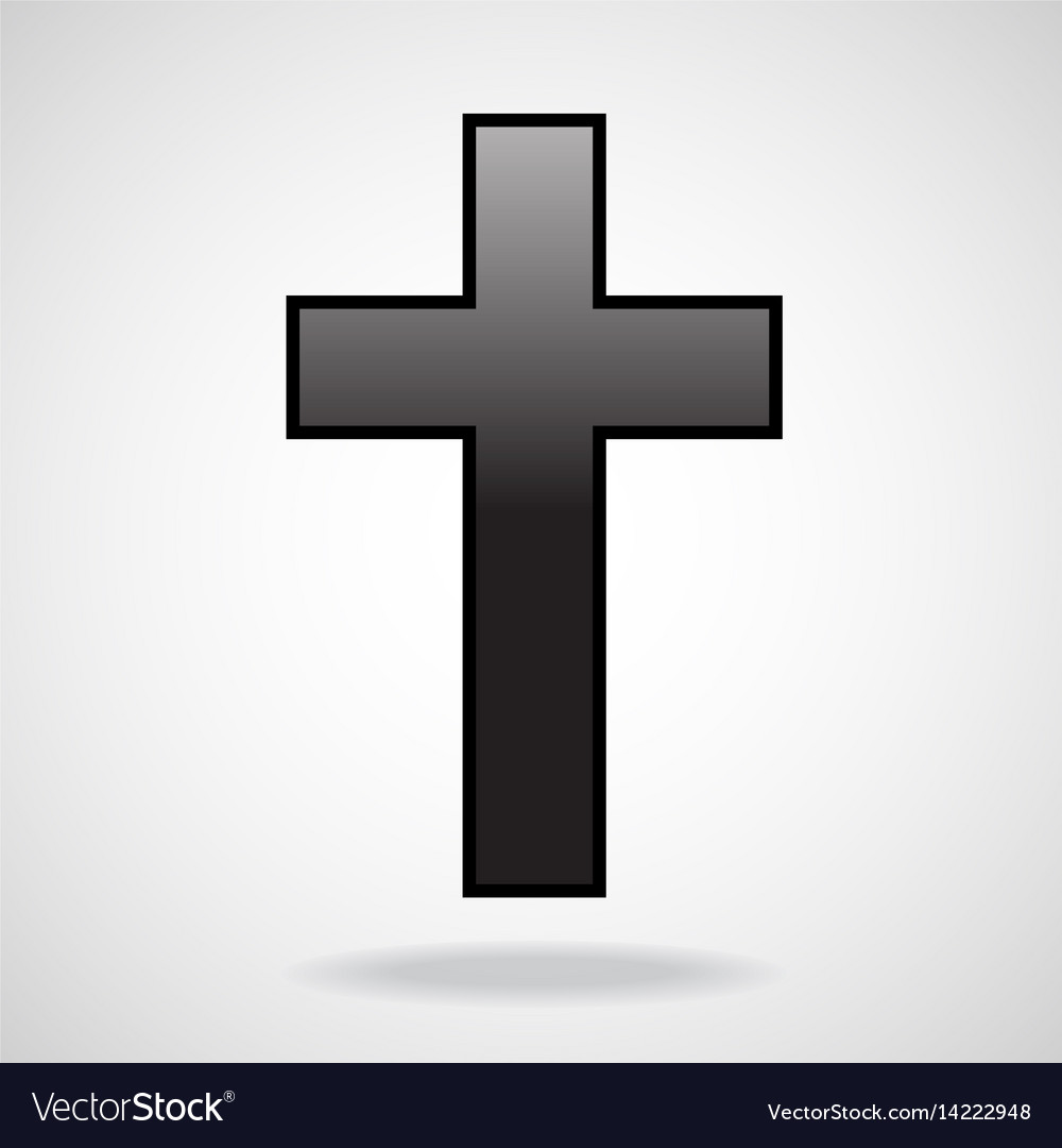 Cross christian symbol isolated on white vector image