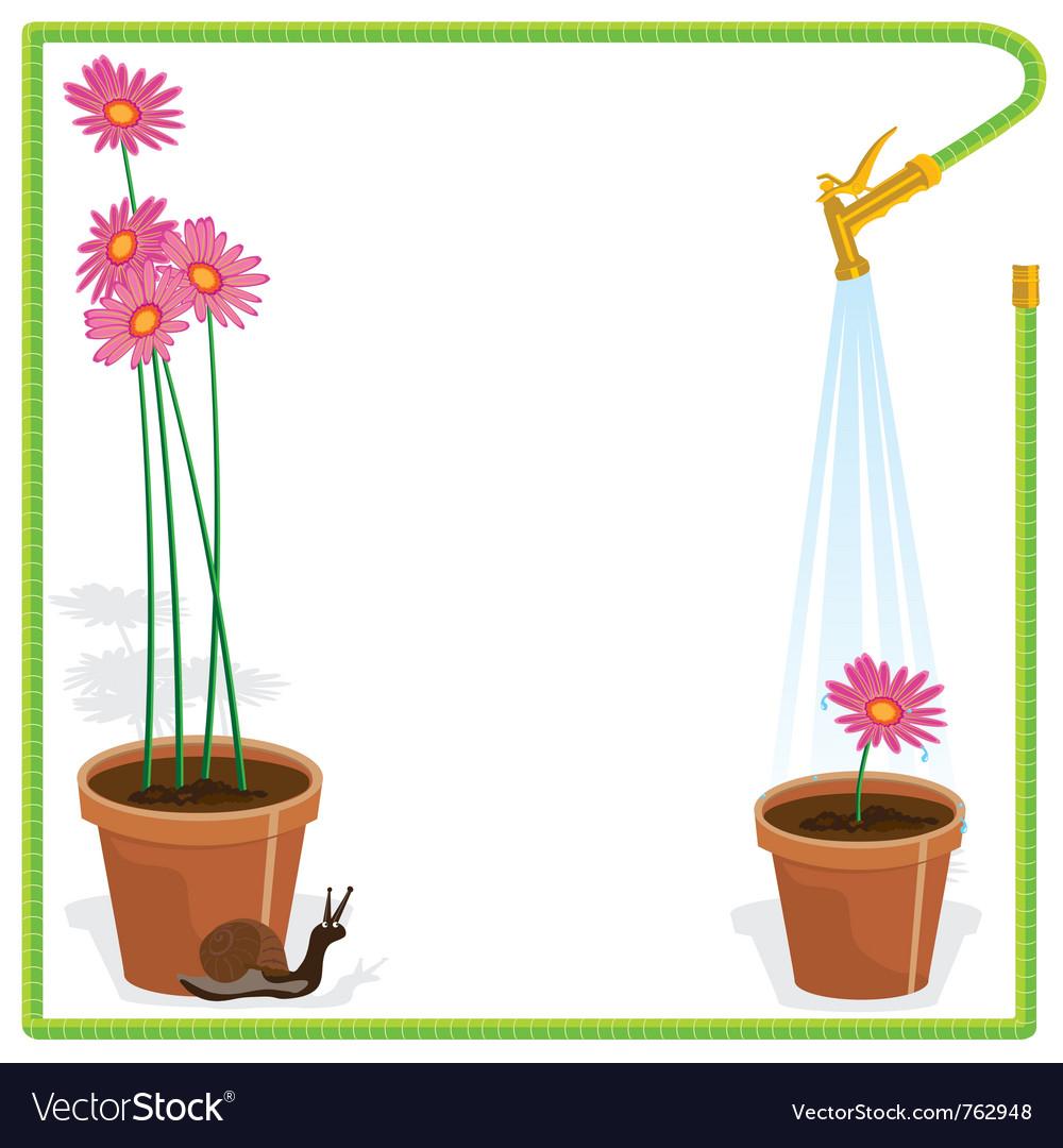 garden party invitation royalty free vector image