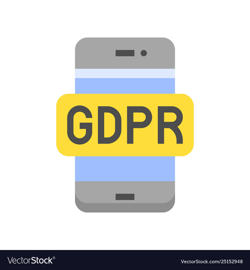 Gdpr general data protection regulation icon flat