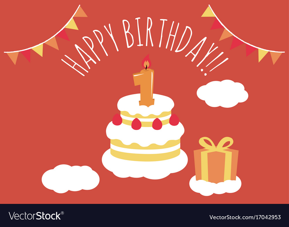 Finest 1 year old birthday card Royalty Free Vector Image XL05