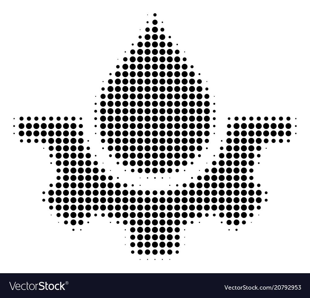 Black pixel water service icon vector image